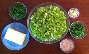 Etouffee Mise En Place for dry and butter